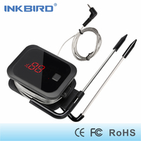 Inkbird Electronic Cooking Bluetooth Wireless BBQ Thermometer LED Screen Steeless Probe Temperature Alarm For Oven Grilling
