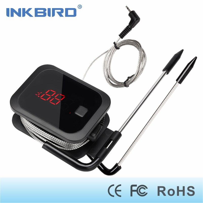 Inkbird Lebensmittel Kochen Bluetooth Wireless BBQ Thermometer IBT-2X Mit Doppel Sonden und Timer Für Ofen Fleisch Grill kostenloser app control