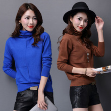 Autumn& Winter Sweater Women HeapTurtleneck Long Sleeve Pullover Ladies sweaters Female Warm Knitted Sweater