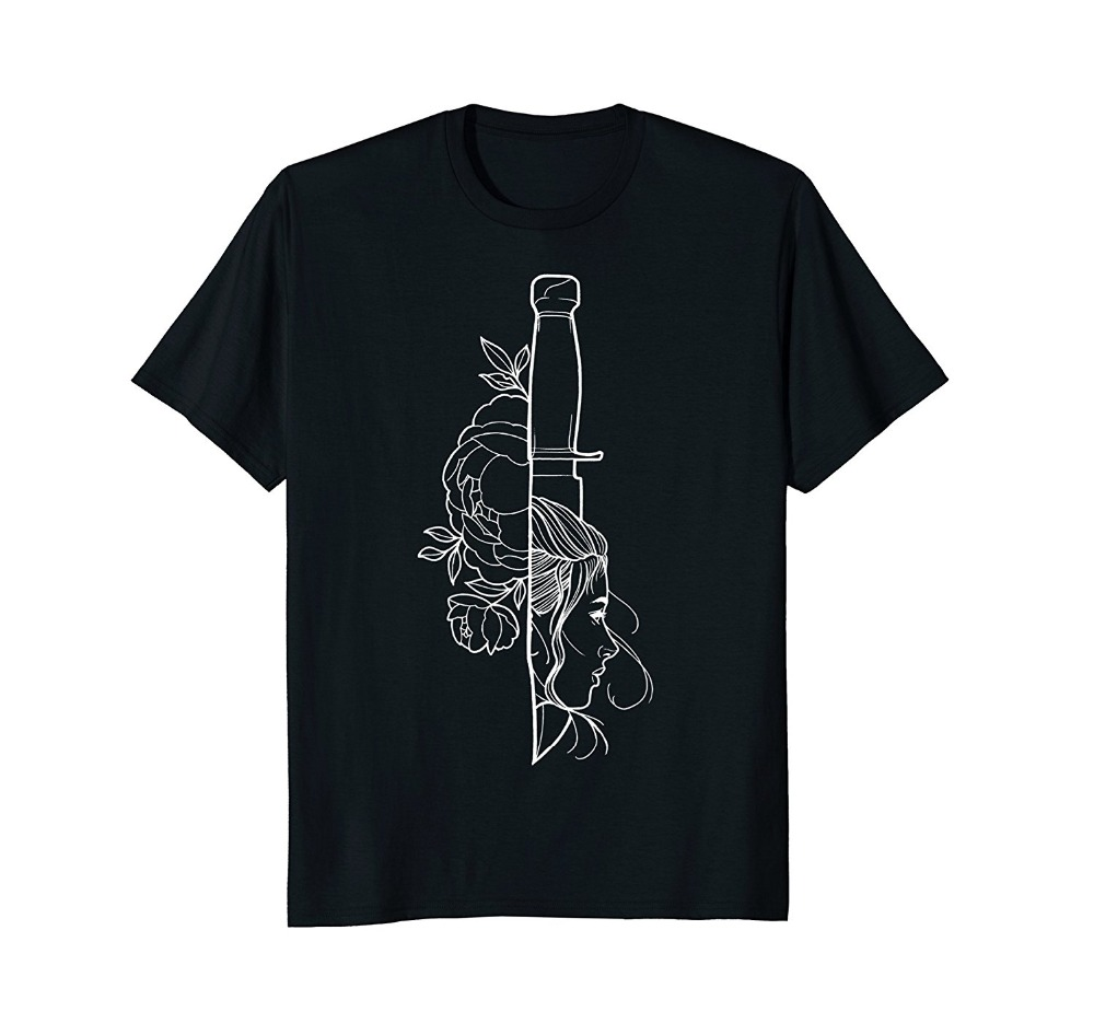 2019 New Summer Tee Shirt Bowie Knife Lady Tee Fashion T-shirt 2019 design the style you want T-shirt image