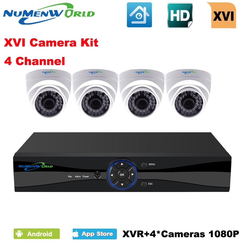 NuMenWorld XVI 4CH CCTV System 1080P HDMI AHD CCTV DVR 4PCS 2 0 MP IR Indoor