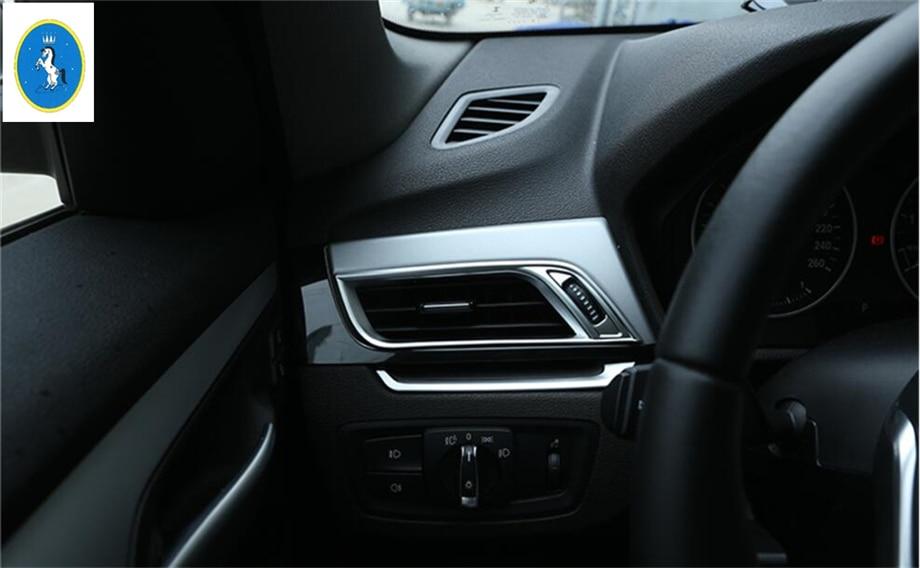 Interior Matte 2PCS Front Air-Condition Vent Cover Trim For BMW X1 F48 2016 2017