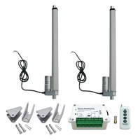 2pcs 16 Inch Heavy Duty Linear Actuator 12V 1500N Motor + Wireless Remote Controller Kit + Mounting Brackets