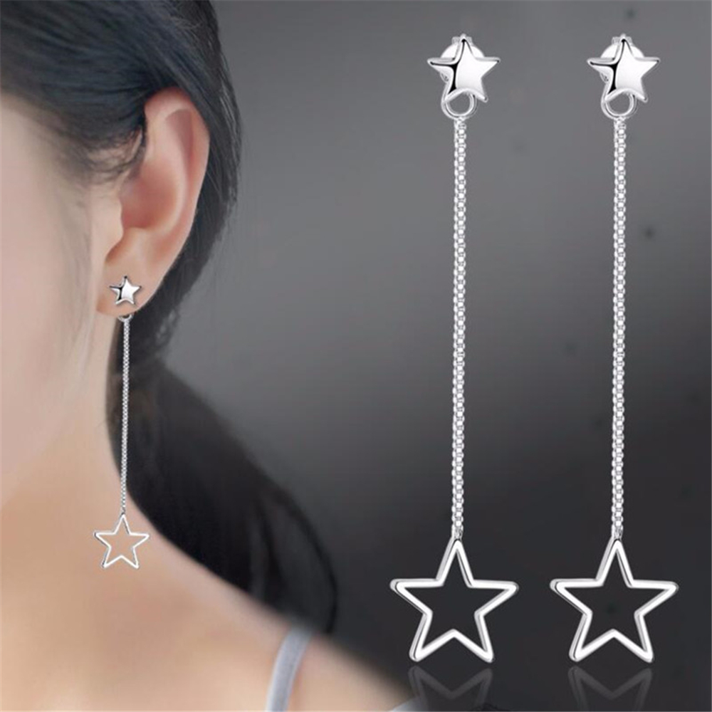 NEHZY 925 sterling silver new woman New Jewellery earrings female star hanging in the long paragraph tassel earrings