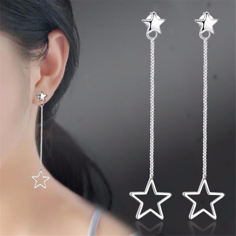 NEHZY 925 sterling silver new woman New Jewellery earrings female star hanging in the long paragraph tassel earrings
