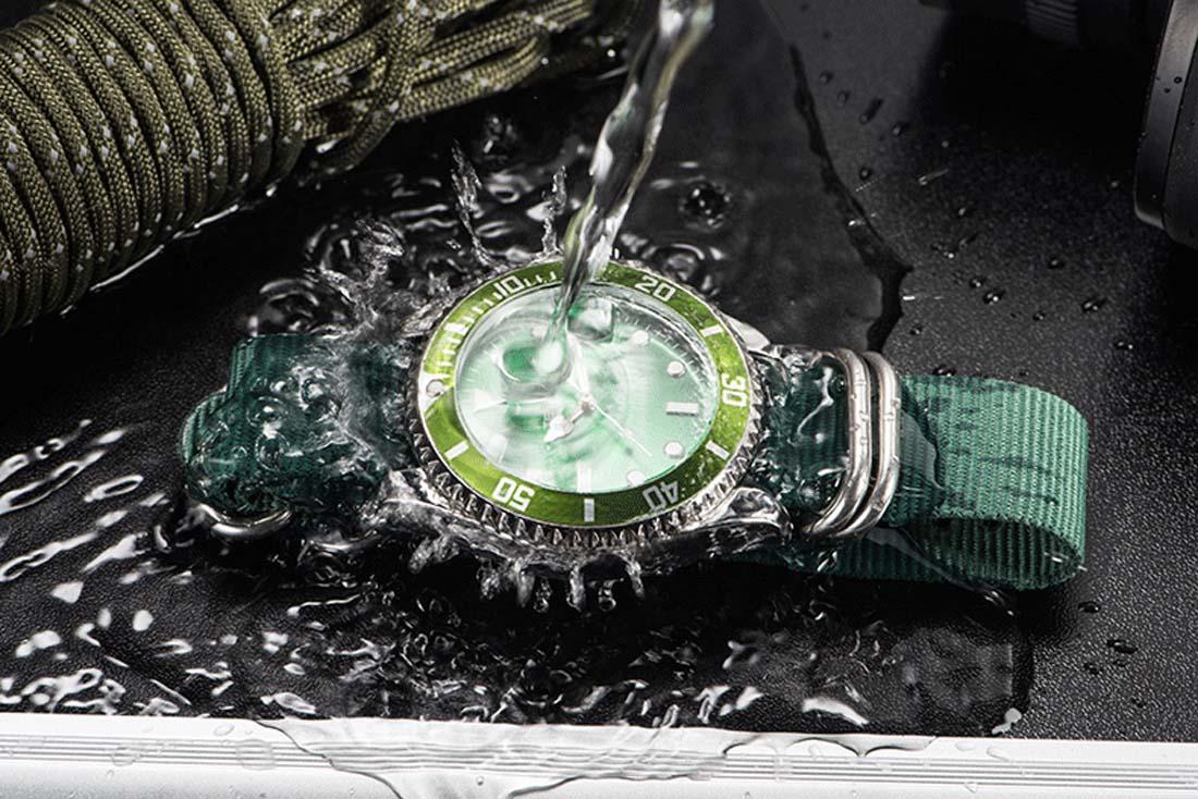 Nylon Watch Bracelet men quartz wristwatch green top luxury watches business clock relogio masculino 2018 new fashion hour watch survival nylon bracelet brown