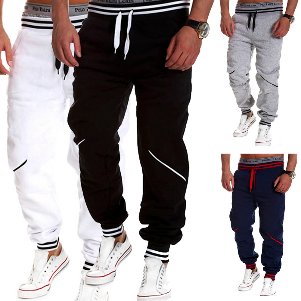 New 2016 Men s Sports Pants Drawstring Baggy Long Trousers Joggers Hip Hop  Harem Workout Sweatpants Tracksuit Gym Clothing-in Cross Pants from Men s  ... 54df19138