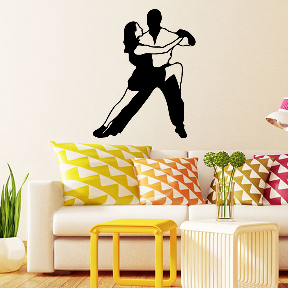 Ballroom Dancing Vinyl Wall Stickers Waterproof Romantic Wall Decals ...