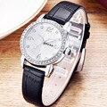 LEER Muñeca Relojes de Marca Para Las Mujeres Rhinestone Casual Mujer Relojes de Cuero Genuino Reloj de Señoras Vestido de Verano Deporte Relojes Mujer