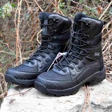 Hommes Militaire Armée Bottes En Cuir Vintage Lace Up Avant Hommes Tactique Bottes High Top Chaussures De Sécurité Combat Cheville Bottes Hommes