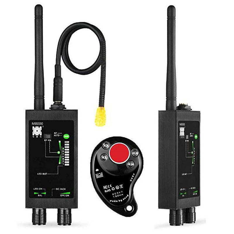 Détecteur de bogues RF M8000 & détecteur de caméra X traqueur GPS détecteur de caméra détecteurs de Scanner Anti-espion lentille CDMA GSM détecteur de dispositif