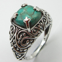 Turquoises December Birthstone Ring Size 8 Silver Ladies Fashion Unique Designed