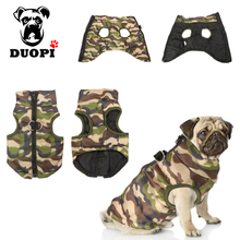 Camouflage Fashion Zipper Coats Jackets Dog Clothes For Small Medium Dogs Chihuahua Warm Winter Spring Costume XS-L Size