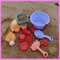 11PCS Set Baby Beach Sand Mud Play Toys Truck For Kids Beach Tub Tools Model Building