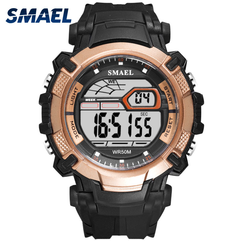 Mens Led Watches SMAEL Digital Clock Alarm Waterproof Led Sport Male Clock Wristwatches 1620 Top Brand Luxury Sports Watches Men smael 1708b