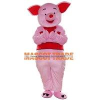 Vente chaude Porcinet Mascotte De Porc Costume Porcinet Costume De Mascotte Rose Mascotte De Porc Costume Pig Fancy Dress Livraison Gratuite