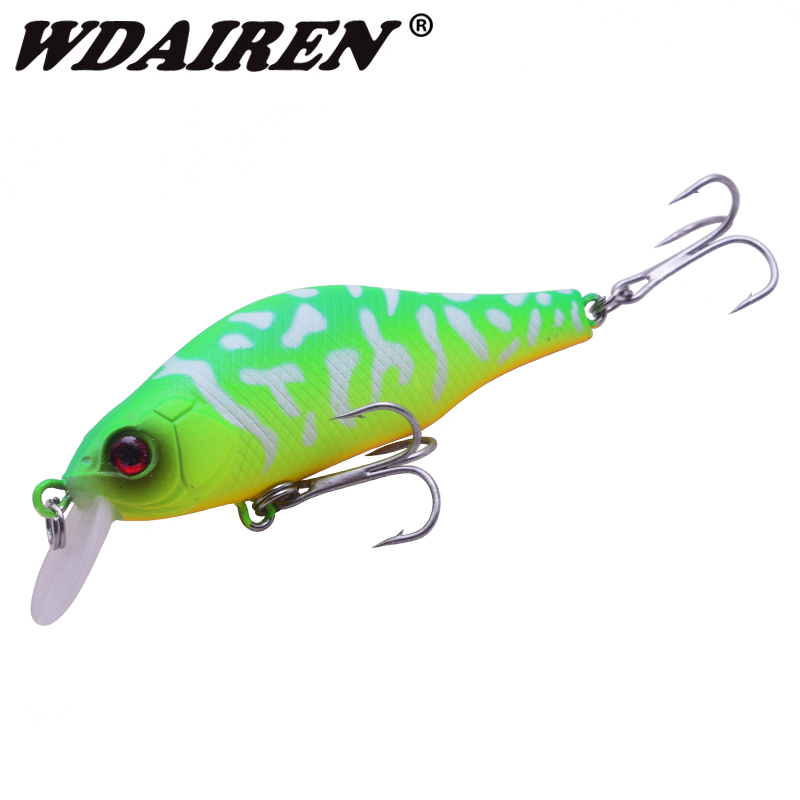 WDAIREN 80mm 9g Fishing Lure Crank Bait Fishing Wobbler Lure with Isca Artificial Hooks Pike Bass for Carp Fishing peche WD-523 цены