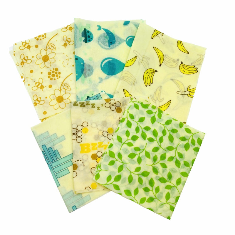 Zero Waste Reusable Storage Wrap Sustainable Organic Sandwich Cheese Food Wrapping Paper BPA Plastic Free Beeswax Food Wrap in Saran Wrap Plastic Bags from Home Garden