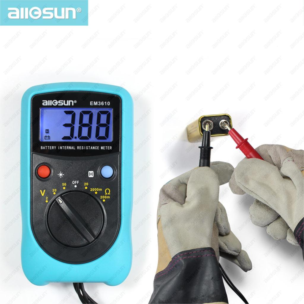 all-sun EM3610 Battery Internal Resistance Meter Battery Voltage Temperature Coefficient automotive tester vans metallica kill em all