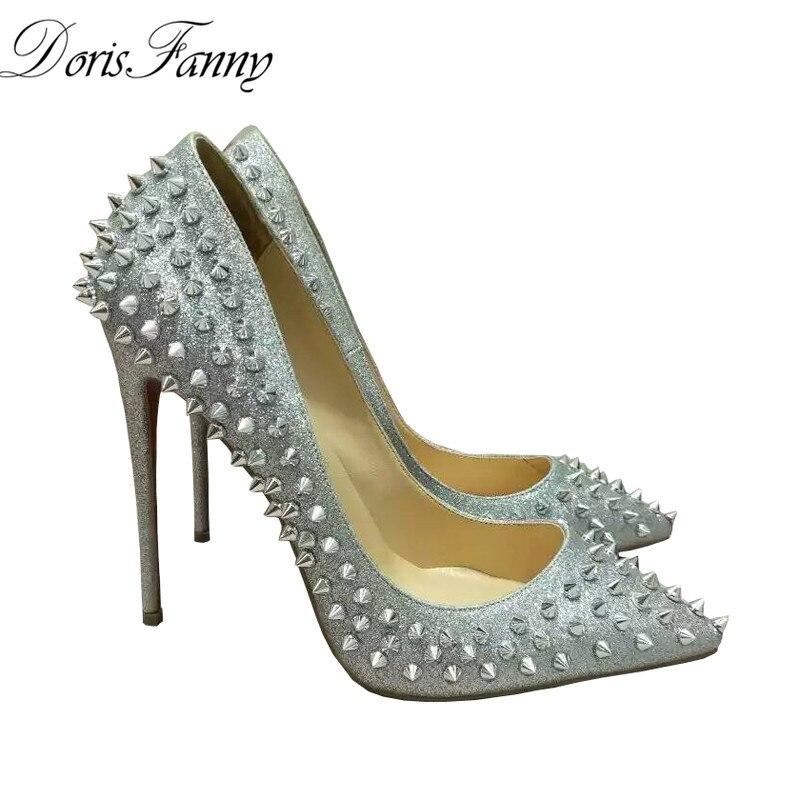 Popular Silver Studded Heels-Buy Cheap Silver Studded Heels lots ...