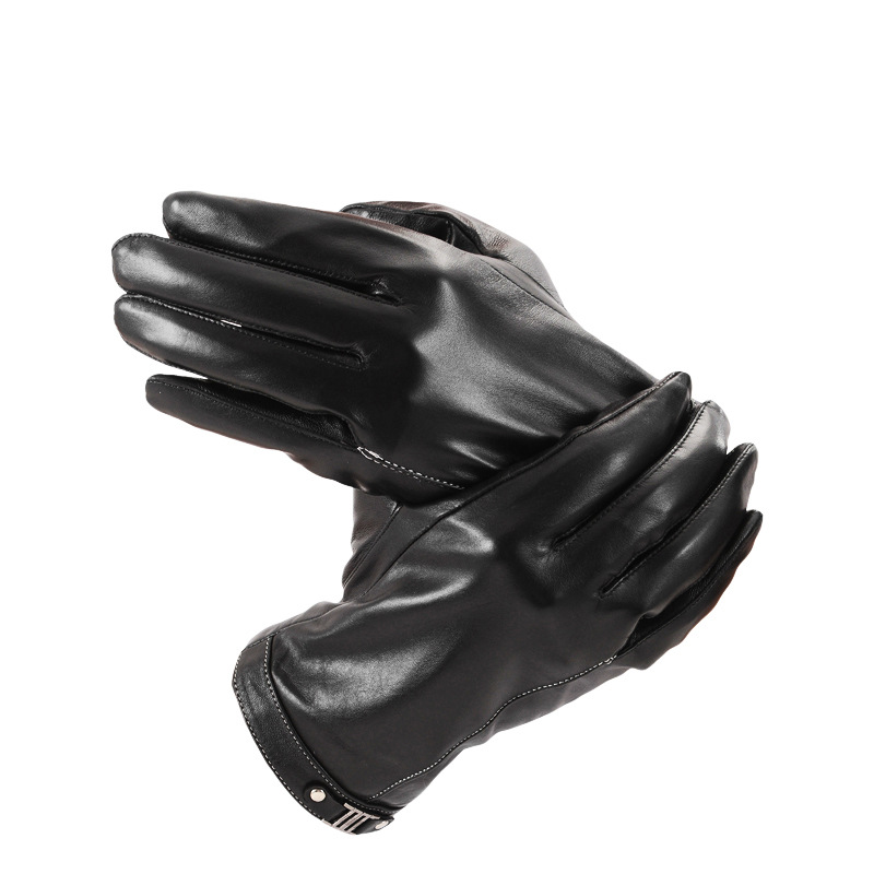 1Pair/Lot Safety Gloves Wear-Resistant Motor Hand Protective Genuine Leather Gloves for Men pro biker mcs 04 motorcycle racing half finger protective gloves red black size m pair