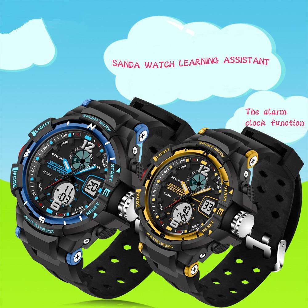 Nowa marka moda SANDA dzieci zegarek sportowy zegarek LED cyfrowy - Zegarki dziecięce - Zdjęcie 5