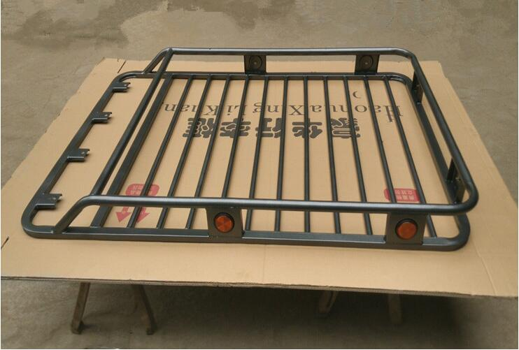 Car Aluminum Top Roof Rack Rail Bar baggage luggage bar Box For Universal All SUV CAR (140*100*15CM) Have Cross