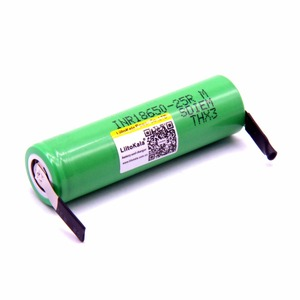 Image 2 - Liitokala 100% מקורי 18650 2500 mah bateria recarregável 3.6 v inr18650 25r m 20a descarga 18650 סוללה + níquel diy