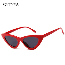 2019 personality cat eye sunglasses fashion triangle sunglasses brand designer trend glasses UV400 triangle insert metal cat eye sunglasses