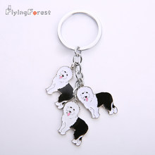 NEW Old English Sheepdog Chiave Catena FAI DA TE Dog Portachiavi Sacchetto Dei Monili Carino Pet Portachiavi Donna In Metallo Portachiavi Per Auto All'ingrosso regalo(China)