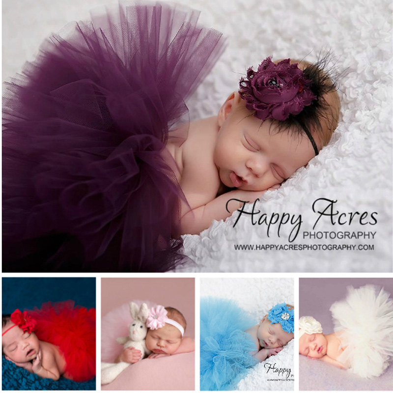 Cute Newborn Toddler Baby Girls Headband+Tutu Skirt Costume Photo Prop Outfits haas