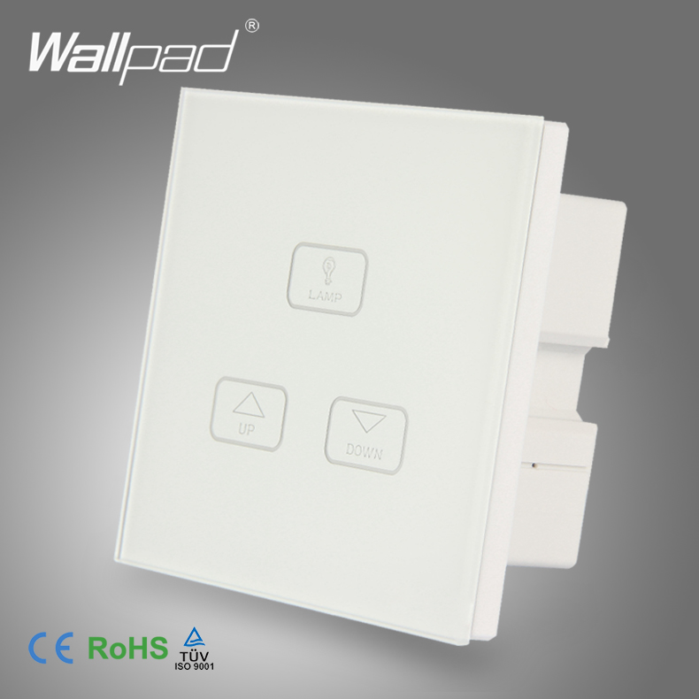Dimming Control Switch Factory Best Quality Wallpad Modern White Crystal Glass LED Light 3 Gang Touch Screen Dimmer Light Switch