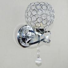K9 Crystal Wall Light Living Corridor Silver Golden Stair Sconce Bedroom Bedside Lamp Led