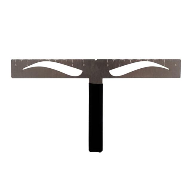 Facial T-shape Area Makeup Mold Standard Eyebrow Ruler Eyebrow Tattoo Accessories Keeping Symmetry Balance For Classic Brow 1