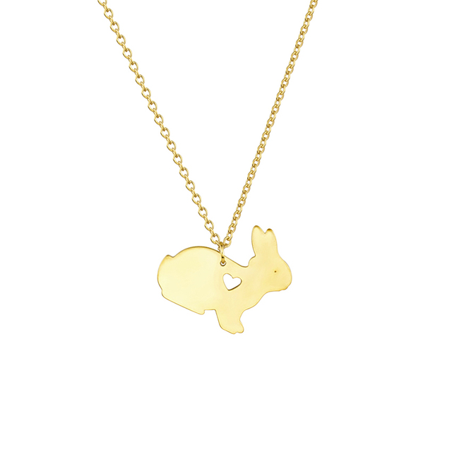 Cute baby rabbit necklaces for women daughter sister mom gifts cute baby rabbit necklaces for women daughter sister mom gifts easter bunny jewelry stainless steel gold negle Image collections