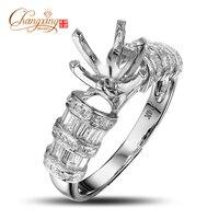 Customizing Jewelry 8 5 Round Cut SOLID 14k GOLD DIAMOND SEMI MOUNT RING Settings Fashion