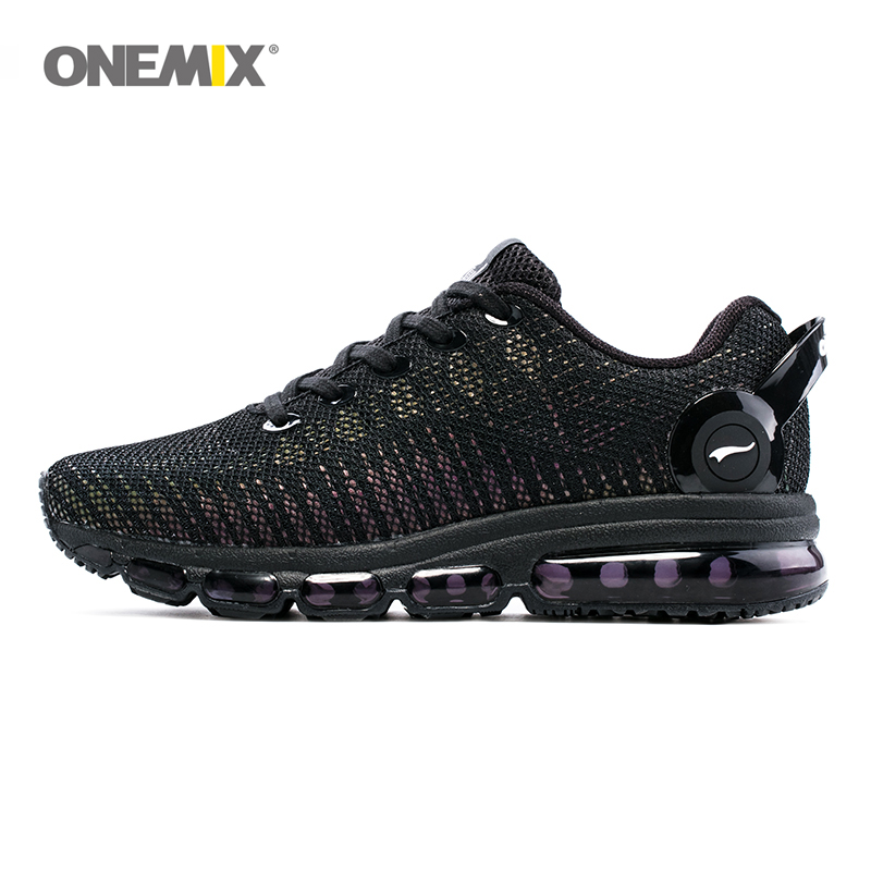 ONEMIX løpesko for menn og kvinner Lett og pustende sneaker for utendørs sport og luftpute Jogging SizeEU35-46