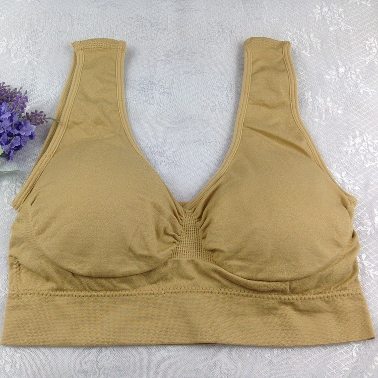 New Fashion Double Layers Women Comfortable Seamless Adjusting Bra Solid Leisure Cotton Boob Tube Top Wireless Bra 16