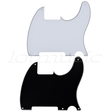 2Pcs Electric Guitar Pickguard 3-Ply Scratch Plate For Fender Tele parts US Standard 3 ply electric guitar pickguard black scratch plate new guard board