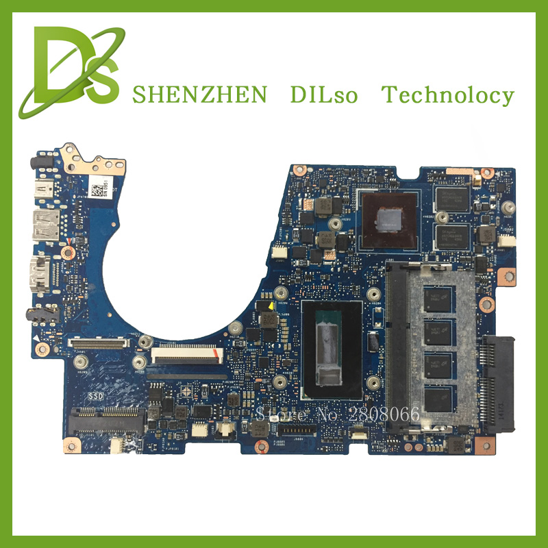 SHUOHU UX303LN For ASUS UX303LN Laptop motherboard UX303LN mainboard REV2.0 i5 4GB memory100% tested freeshipping for asus a8se laptop motherboard mainboard 100