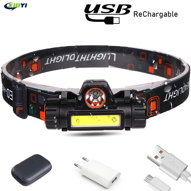 6000LM USB Rechargeable  LED Headlamp Waterproof COB Work Light With Magnet Headlight Built-in Battery For Camping, Adventure