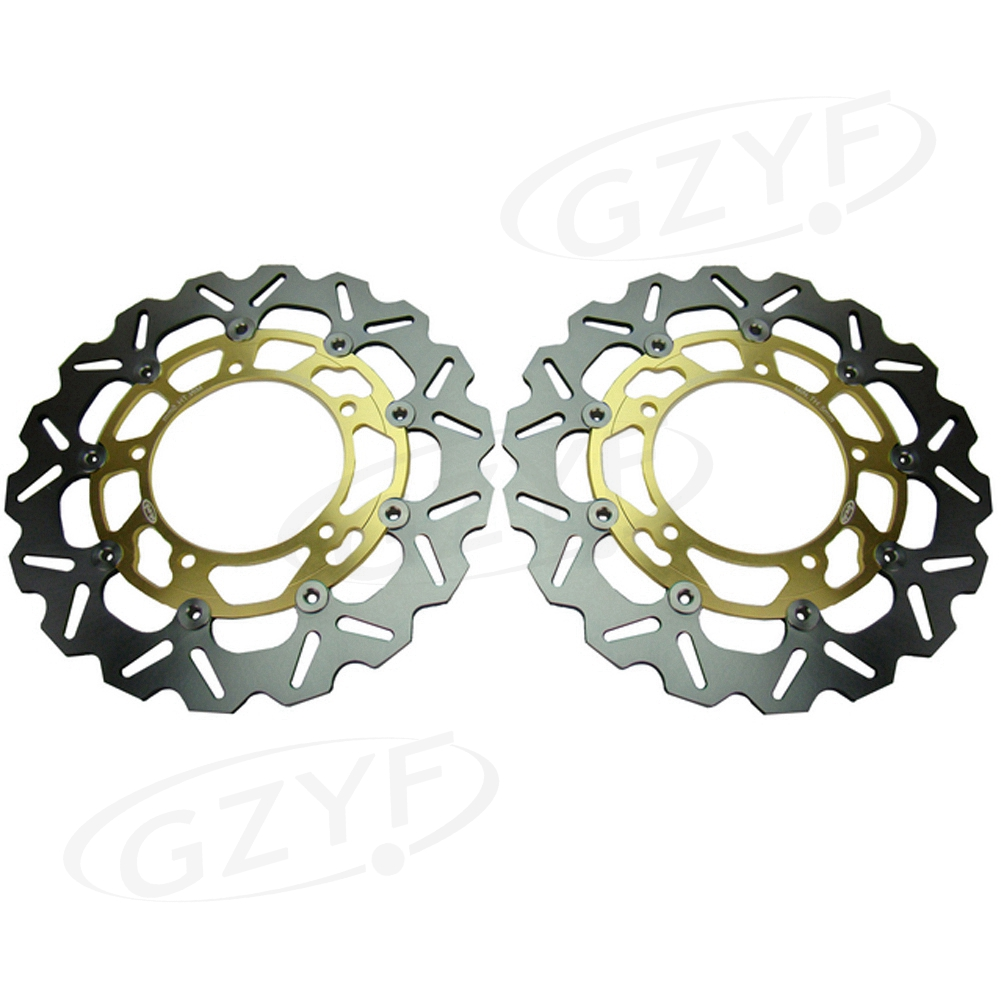 Motorcycle Brake Disc Disks Rotor for Suzuki GSXR1300 HAYABUSA 2008-2015 GSF650 1250 BANDIT GSX 1250FA 650F GSR 750 400 New Pair 310mm motorcycle front wavy floating brake disc rotor for suzuki gsf bandit 1250 07 15 gsx1250 10 15 b king 1300 08 11 gsx1300
