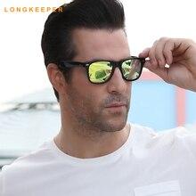 LongKeeper Night Vision Goggles Sunglasses Women Men Brand Designer Female Driving Sun Glasses Yellow Lenses Womens