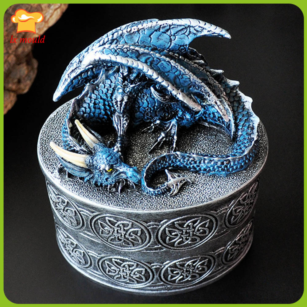 2019 Hot Sale Large Dragon Shape Silicone Mold Candle Soap Mold Fantasy Style Dragon Tools