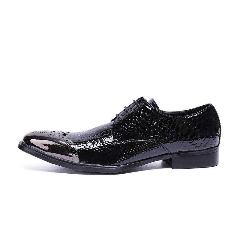 Oxford Up Party Lace Negocios De Zapatos As Cuero Wedding Toe Lujo  Cuadrados Hombres Marca Brogue Genuino Pic Tallados x7USq06w0 d5e79260de80