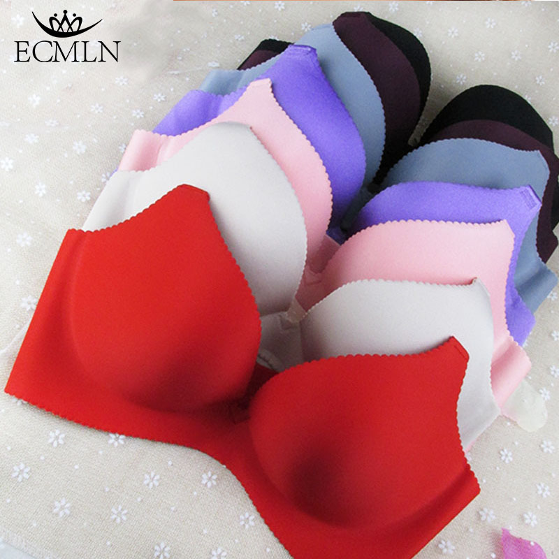2017 Brand Ladies Seamless Bra Gather Sexy Lingerie Bra Push Up Brassiere Bralette Sutian Underwear Bras For Women Plus Size