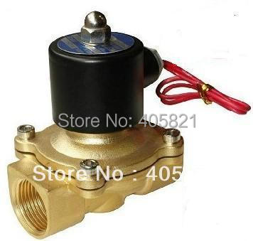 Full Brass Body 1.5'' 2W Water Solenoid Valve 0.8MPa Pressure 2W400-40 DC12V DC24V AC110V or AC220V free shipping 5pcs dc24v 1 2 water solenoid valve nc brass alloy valve body
