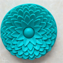 ซิลิโคนขนาดใหญ่เตาอบแม่พิมพ์เค้กดอกไม้Bakewareแม่พิมพ์เบเกอรี่เครื่องมือเค้กซิลิโคนFondant Mouldอุปกรณ์ครัว