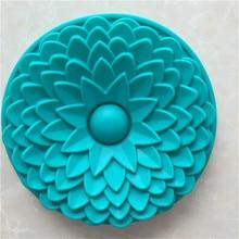 Molde grande de silicona para horno y pastel, molde para hornear con forma de flor solar, utensilios para Tartas, molde para Fondant de silicona, accesorios de cocina