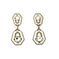 Fashion Geometric Long Generous Earring Punk Style Gold Plated Birdy Marquise Stud Earrings For Women Cool